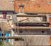 Aerial View of Vintage Roofs Royalty Free Stock Images