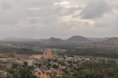 Aerial View of Virupaksha or Pampapati temple and Whole Hampi, Karnataka, India. Aerial View of Virupaksha or Pampapati temple and Whole Hampi, Karnataka,India royalty free stock photo