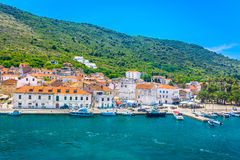 Aerial view at Vis town, Croatia. Stock Photography