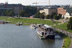 Vistula in krakow royalty free stock images
