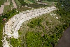 Aerial view - Vistula River near Kazimierz Dolny , Poland Stock Images