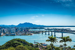 Aerial view of Vitoria in Espirito Santo, Brazil.  royalty free stock photography