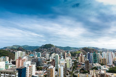 Aerial view of Vitoria in Espirito Santo, Brazil.  royalty free stock image