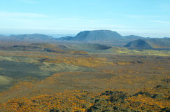 Aerial view of volcanic landscape Stock Photo
