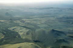 Aerial view of volcanic landscape. In Iceland Highland region Royalty Free Stock Photo