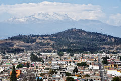 Aerial view of Volcano in Cholula Stock Images