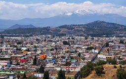 Aerial view of Volcano in Cholula Royalty Free Stock Images