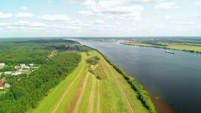 Volga River, Russia stock video