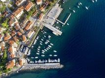Aerial View of Volosko in Opatija, Croatia Royalty Free Stock Images