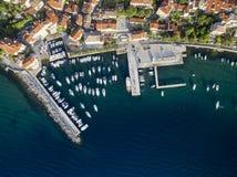 Aerial View of Volosko in Opatija, Croatia Stock Photos