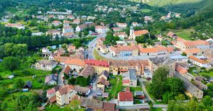 Aerial view of Vranov nad Dyji, Czech Republic Stock Photos
