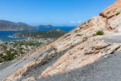 Aerial view of Vulcano, Aeolian Islands near Sicily, Italy Stock Photography