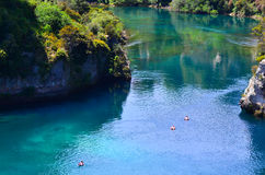 Aerial view of the Waikato River near Taupo, New Zealand Stock Photography