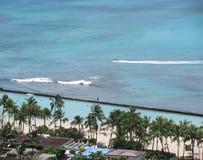 Aerial view of Waikiki beach, Hawaii. Royalty Free Stock Image