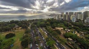 Aerial view of Waikiki Royalty Free Stock Image