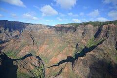 Aerial view of waimea canyon Stock Photo