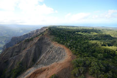 Aerial view of waimea canyon Royalty Free Stock Images