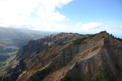 Aerial view of waimea canyon Stock Image