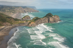 Aerial view of Waitakere Ranges Stock Image