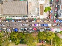 Aerial view of walking street market Royalty Free Stock Image