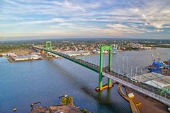 Aerial View of Walt Whitman Bridge Philadelphia Royalty Free Stock Photography