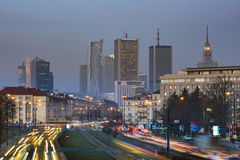 Aerial view of  Warsaw  Financial Center Stock Images