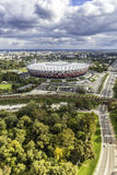 Aerial view of Warsaw National Stadium royalty free stock photos