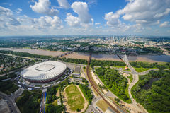 Aerial view of Warsaw stock photos