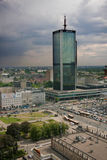 Aerial view of Warsaw Royalty Free Stock Image