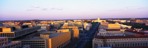 Aerial view of Washington royalty free stock photos