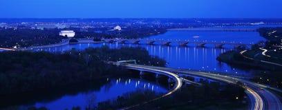 Aerial view of Washington stock photo