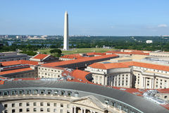 Aerial view on Washington DC Royalty Free Stock Images