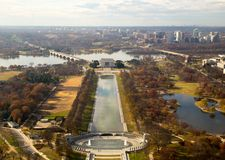 Aerial view of Washington DC Royalty Free Stock Photo