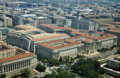 Aerial View from Washington Monument Royalty Free Stock Images