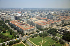 Aerial View from Washington Monument royalty free stock photo