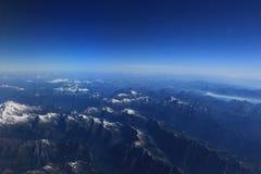 Aerial View of Washington Mountain Range. An aerial view of a Washington State landscape Royalty Free Stock Images