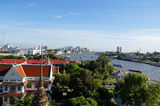 Aerial view from Wat Arun. In the morning,Bangkok Royalty Free Stock Photo