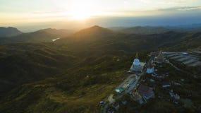 Aerial view of wat phar sorn kaew most popular religion destinat Royalty Free Stock Photo