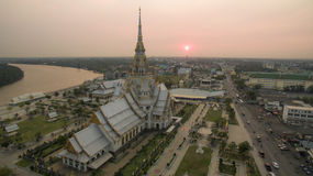 Aerial view of wat sothorn chachengsao most popular religion tra Stock Images