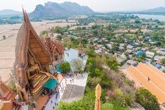 Aerial view of Wat Tham Suea. At Kanchanaburi, Thailand Stock Photos