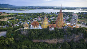 Aerial view of wat thum sau temple important buddha traveling de Stock Photo
