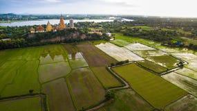 Aerial view of wat thum seau kanchanaburi thailand Royalty Free Stock Image