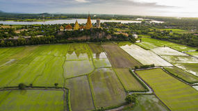 Aerial view of wat thum suae tiger cave in kanchanaburi western Royalty Free Stock Images