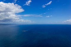aerial view of Wategoes Beach at Byron Bay. The Photo was taken out of a Gyrocopter, Byron Bay, Queensland, Australia royalty free stock photo