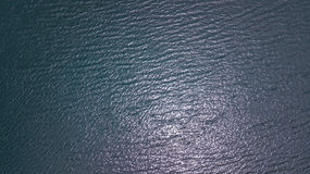 An aerial view of  water Royalty Free Stock Photography