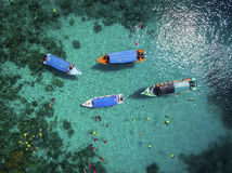 Aerial view water confident activity Stock Photo