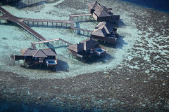 Aerial View Of Water Villas Stock Photography