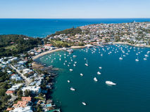 Aerial view of Watsons Bay Harbour, Sydney. Aerial view of Watsons Bay harbour. Watsons Bay is a harbour side suburb of Sydney, in the state of New South Wales Royalty Free Stock Photography