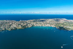 Aerial view on Watsons Bay and Tasman Sea Royalty Free Stock Photos