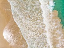 Aerial View of Wave royalty free stock image